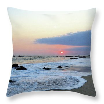 Throw Pillow featuring the photograph Pastel Blue by Victor K