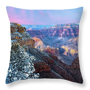 Pastel Canyon Throw Pillow