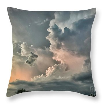Pastel Clouds Throw Pillow by Walt Foegelle