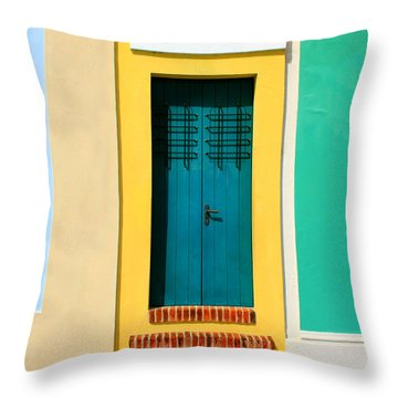 Pastel Doorway Throw Pillow by Perry Webster