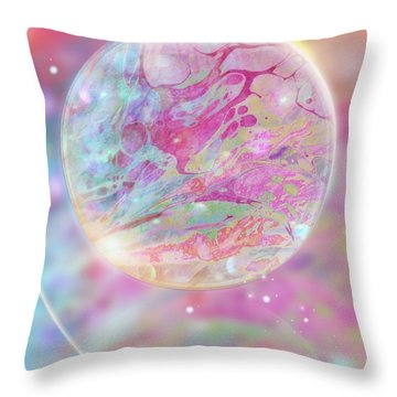 Pastel Dream Sphere Throw Pillow