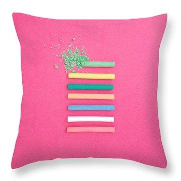 Pastel Explosion Throw Pillow