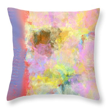 Pastel Flower Throw Pillow by Jessica Wright