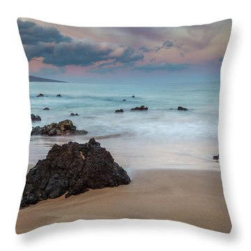 Throw Pillow featuring the photograph Pastel Hawaii Sunrise by Pierre Leclerc Photography