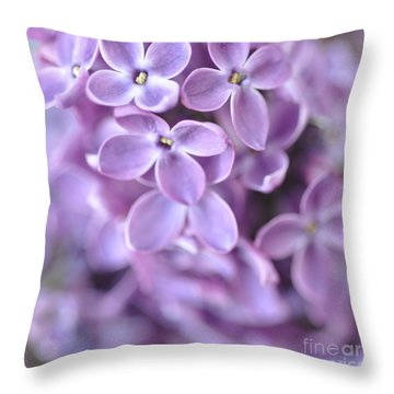 Pastel Lilacs Throw Pillow