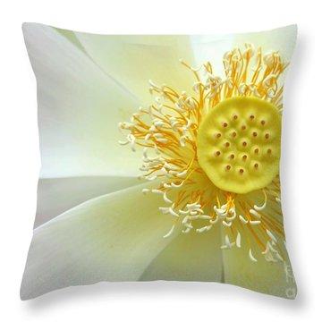 Pastel Lotus Too Throw Pillow by Sabrina L Ryan