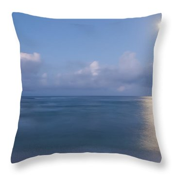 Pastel Moonset Throw Pillow by Roger Mullenhour