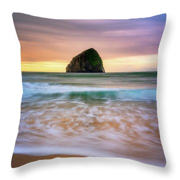 Throw Pillow featuring the photograph Pastel Morning At Kiwanda by Darren White