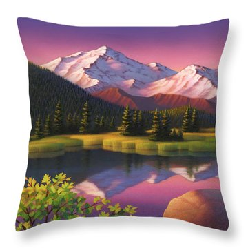 Pastel Mountain Throw Pillow