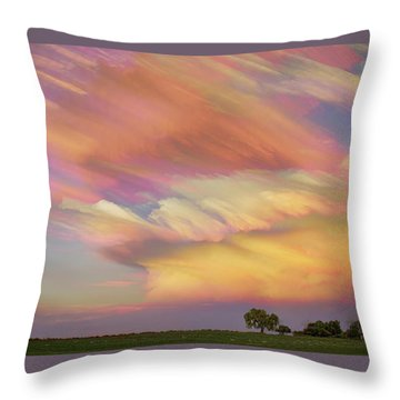 Throw Pillow featuring the photograph Pastel Painted Big Country Sky by James BO Insogna