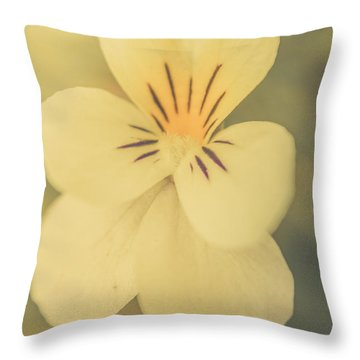 Pastel Pansy Throw Pillow