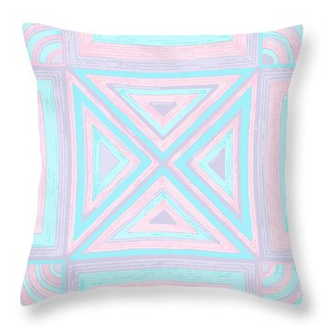 Pastel Patchwork Throw Pillow