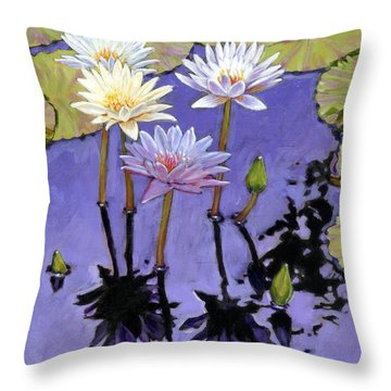 Pastel Petals Throw Pillow by John Lautermilch