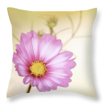 Pastel Petals Throw Pillow by MTBobbins Photography