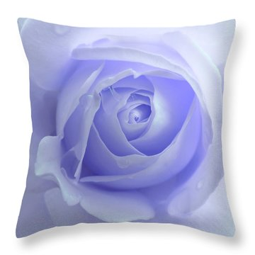 Pastel Purple Rose Flower Throw Pillow