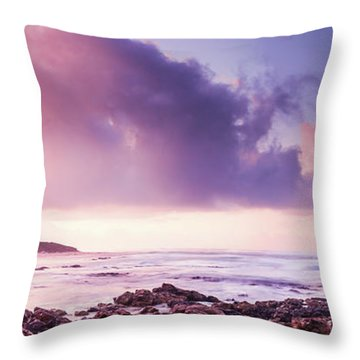 Pastel Purple Seashore Throw Pillow