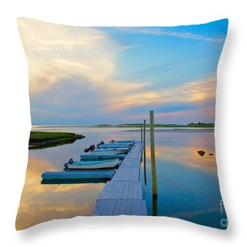 Pastel Reflections On Cape Cod Throw Pillow