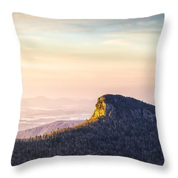 Table Rock Mountain - Linville Gorge North Carolina Throw Pillow