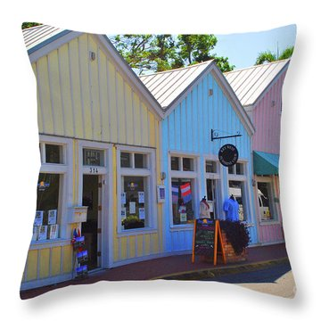 Throw Pillow featuring the photograph Pastel Row by Jost Houk