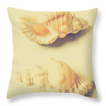 Pastel Seashell Fine Art Throw Pillow