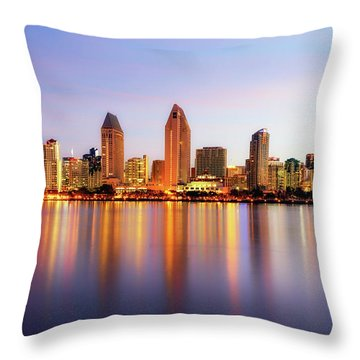 Pastel Skyline Throw Pillow
