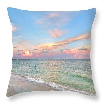 Pastel Sunset On Sanibel Island Throw Pillow