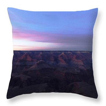 Pastel Sunset Over Grand Canyon Throw Pillow