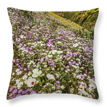 Throw Pillow featuring the photograph Pastel Super Bloom by Peter Tellone