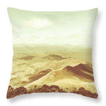 Pastel Tone Mountains Throw Pillow
