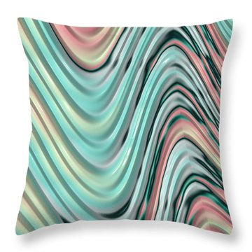 Throw Pillow featuring the digital art Pastel Zigzag by Bonnie Bruno