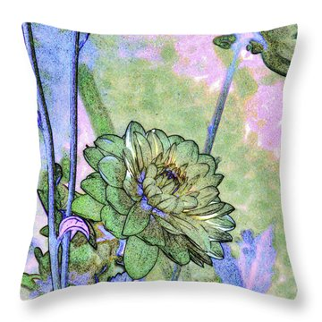 Pastelation Of Reality Throw Pillow