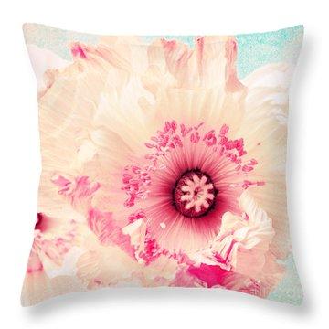 Pastell Poppy Throw Pillow