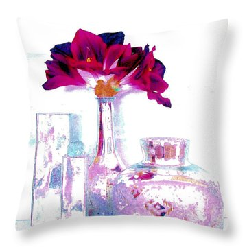 Pastels And Beauty Throw Pillow by Marsha Heiken