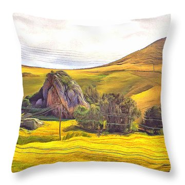 Pastoral Poetry At Chorro Creek Throw Pillow