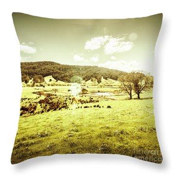 Pastoral Pyengana Throw Pillow