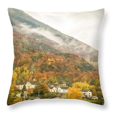 Pastoral Village Throw Pillow