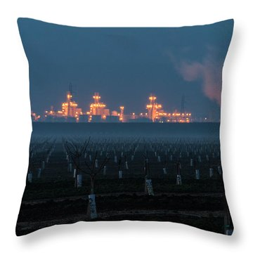 Pastoria Power Plant Throw Pillow