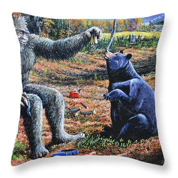 Pastromi On Rye Throw Pillow