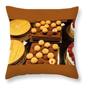 Pastry And Cakes In Lyon Throw Pillow