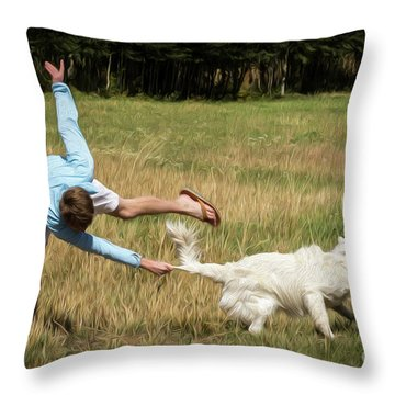 Pasture Ballet Human Interest Art By Kaylyn Franks   Throw Pillow