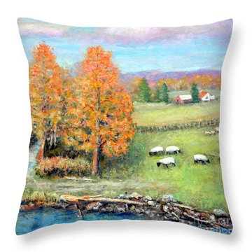 Pasture Happy Throw Pillow