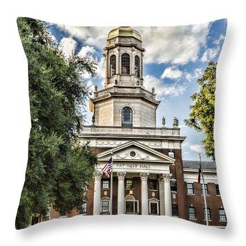Pat Neff Hall - Baylor #4 Throw Pillow