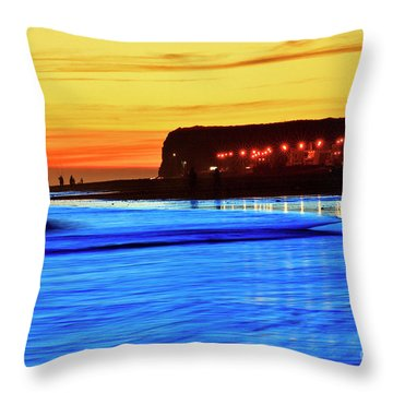 Patagonia Beach. Throw Pillow by Bernardo Galmarini