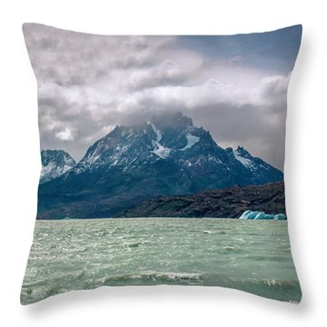 Patagonia Lake Throw Pillow by Andrew Matwijec