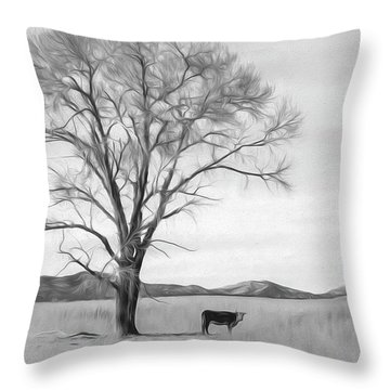 Patagonia Pasture Bw Throw Pillow