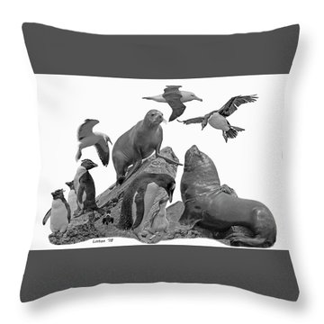 Patagonian Wildlife Throw Pillow