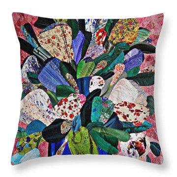Patchwork Bouquet Throw Pillow by Sarah Loft