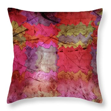 Patchwork Promises Throw Pillow by Bonnie Bruno