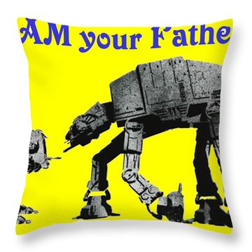 Paternal Declaration Throw Pillow by Paul Van Scott