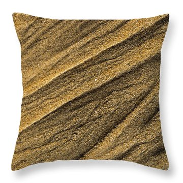 Paterns In The Sand Throw Pillow